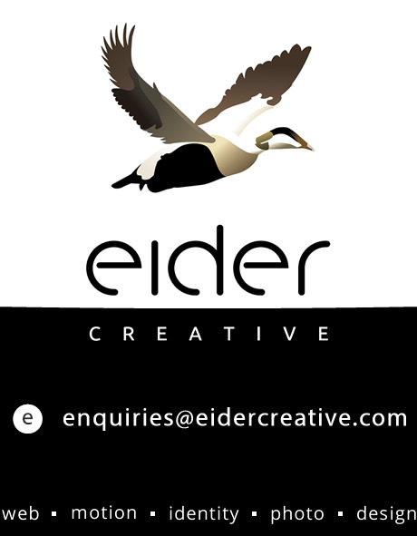 To get in touch please email: enquiries@eidercreative.com